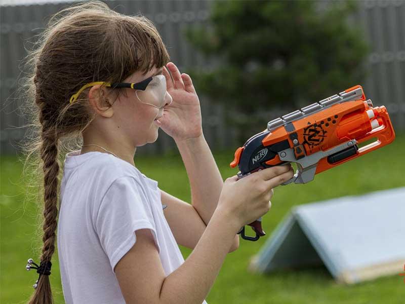 Пристрелка бластера Zombie перед игрой