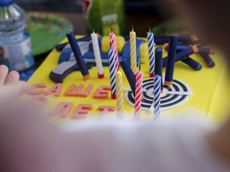 Праздничный торт Nerf