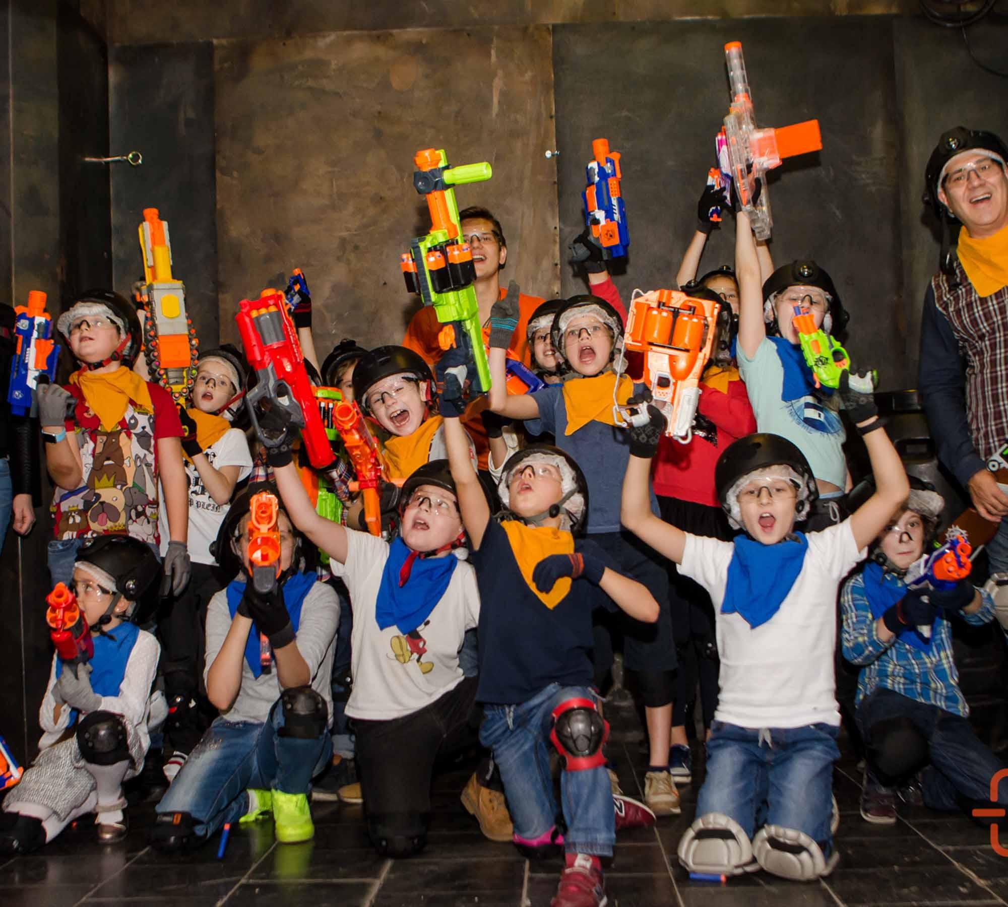 Организация нерф-мероприятий для детей и взрослых